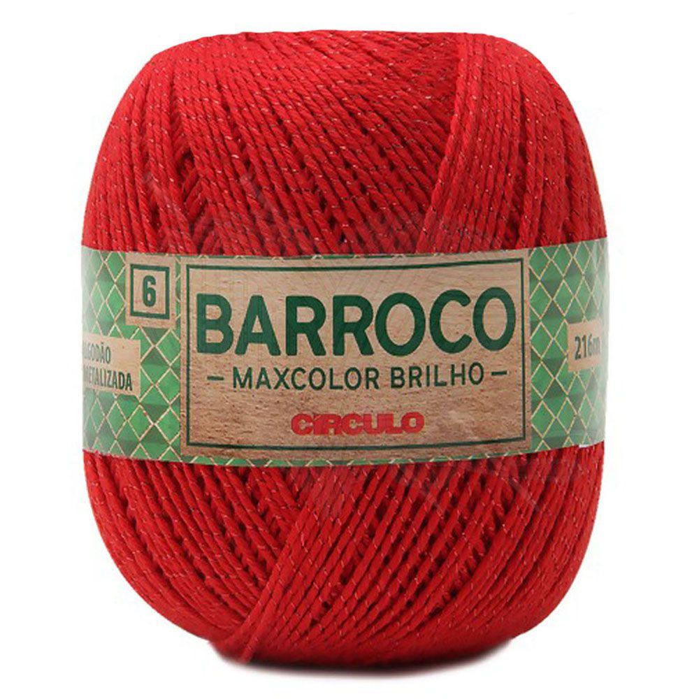 Barbante Barroco Maxcolor Brilho Vermelho 200g