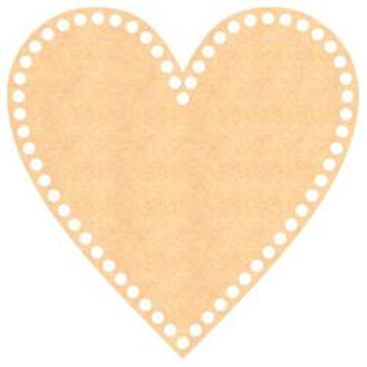 Base de MDF para Crochê Coração