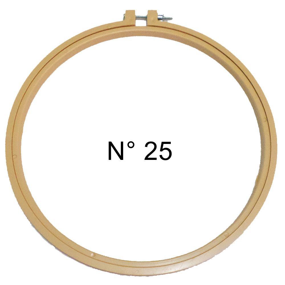 Bastidor de Plástico para Bordar com Regulagem N° 25