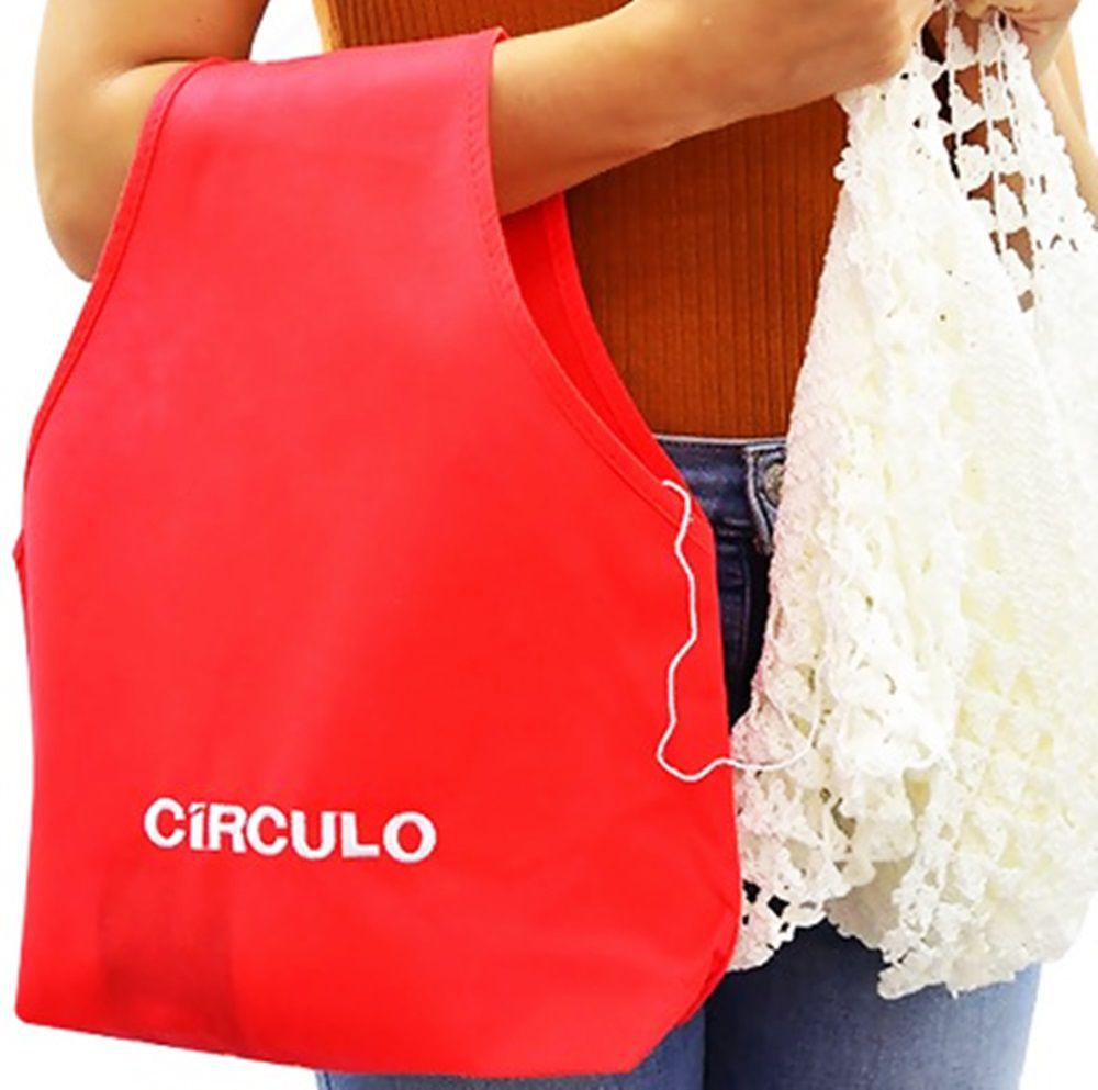 Bolsa Porta Novelos Círculo 30x36cm
