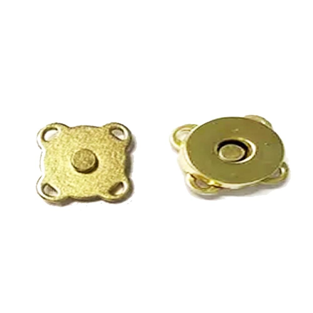 Botão Imã Dourado de Costura Externa 14mm