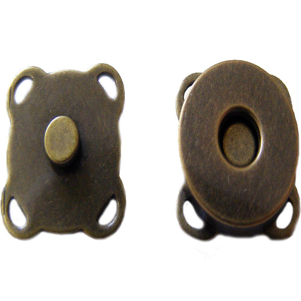 Botão Imã Ouro Velho de Costura Externa 18mm