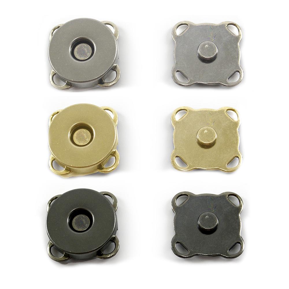 Botão Magnético de Costura Externa Círculo 1,5cm - Pct c/ 6 Und