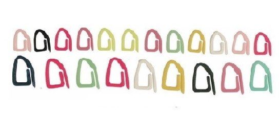 Clips Marcador de Pontos de Tricô 21 UND  - Bastex Artesanatos
