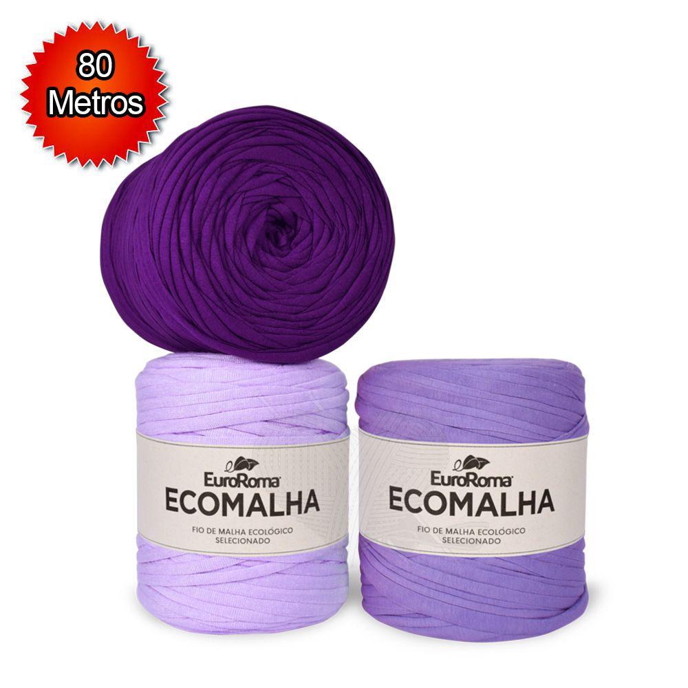 Fio EcoMalha Tons de Violeta - 80m  - Bastex Artesanatos