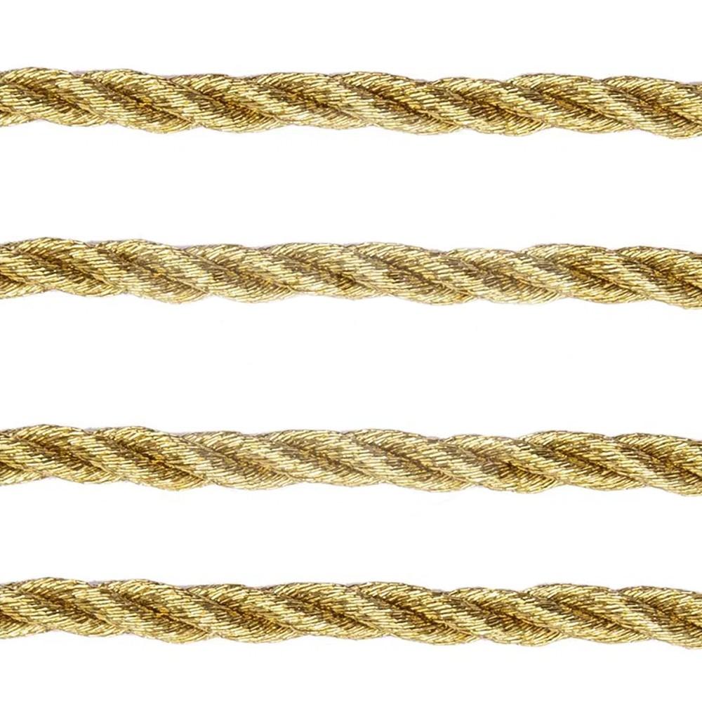 Cordão Metalizado 3mm Ouro 10 Metros