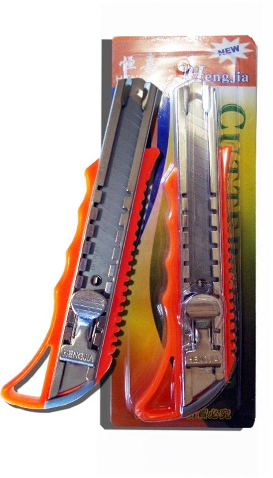 Estilete Plástico Cutter com Trava ES7511 Vermelho