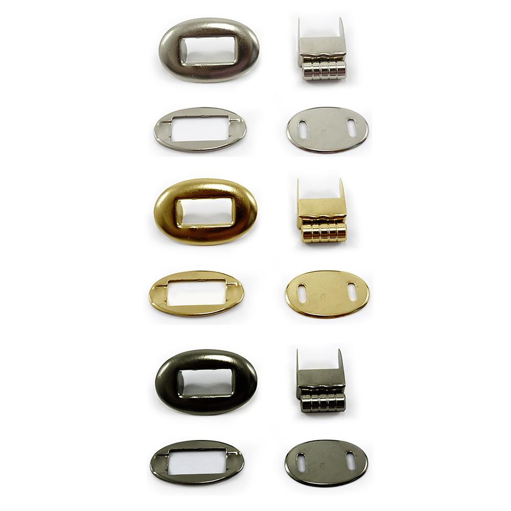 Fecho de  Metal para Bolsa Círculo  Pct c/ 6 Und