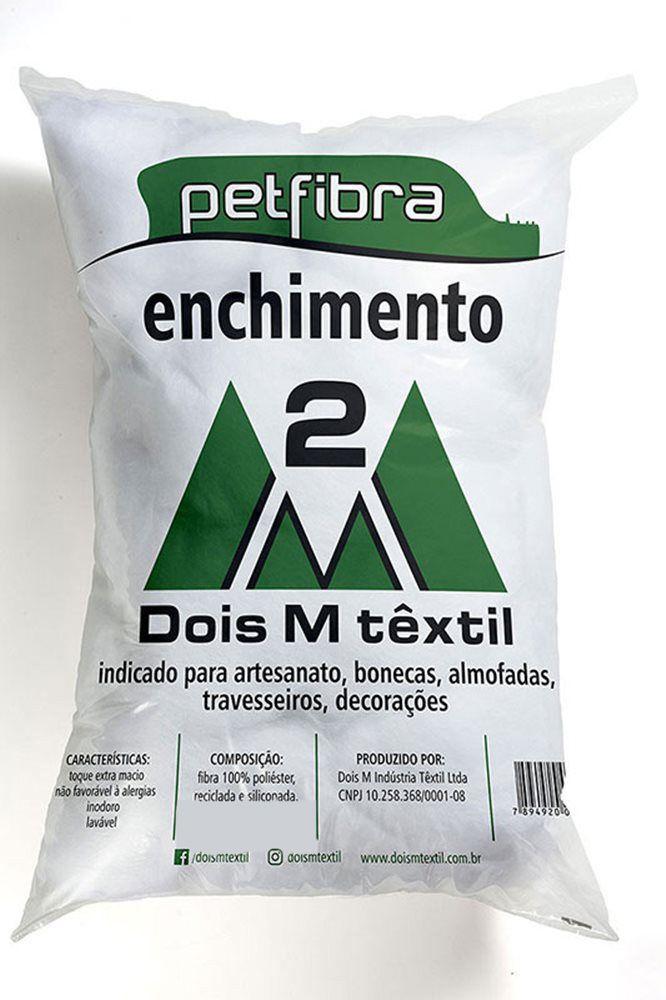 Fibra de Enchimento Siliconada Dois M Têxtil - Pet Fibra  - Bastex Artesanatos