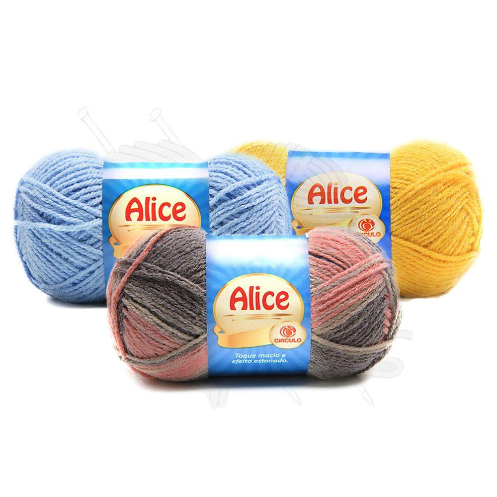 Lã Alice Círculo 100g  - Bastex Artesanatos