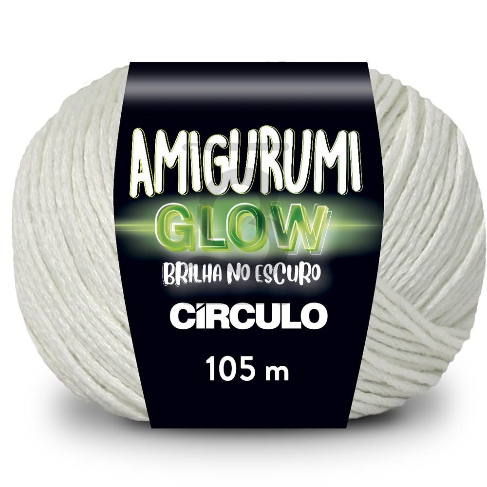Fio Amigurumi Glow Círculo Brilha no Escuro 105m