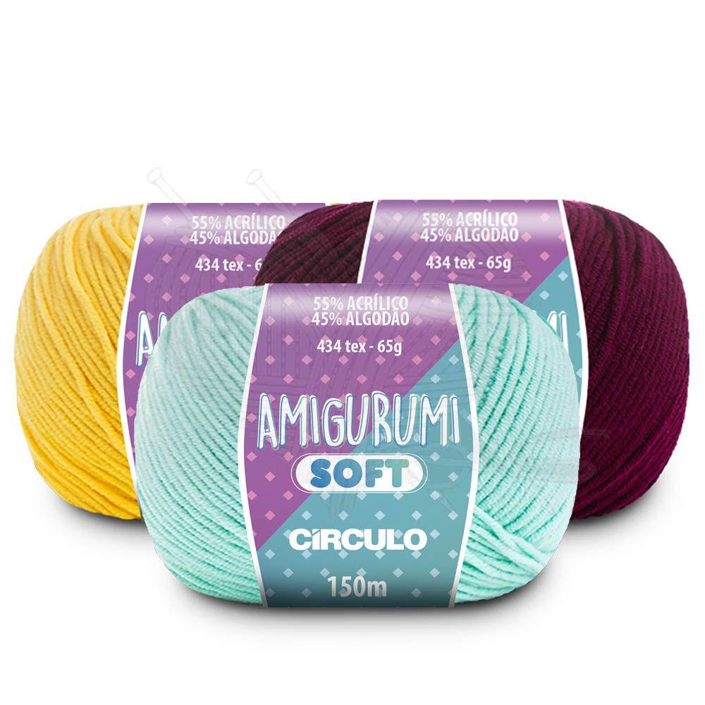 Fio Amigurumi Soft Círculo 65g  - Bastex Artesanatos