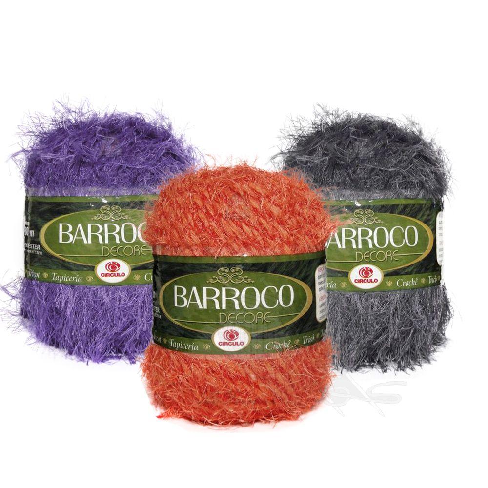 Barbante Barroco Decore Cores Lisas 103mts 160g  - Bastex Artesanatos