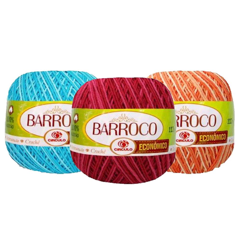 Barbante Barroco Multicolor 100g  - Bastex Artesanatos