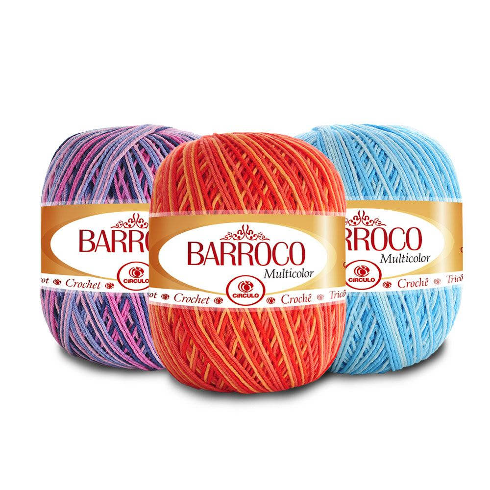 Barbante Barroco Multicolor 200g  - Bastex Artesanatos