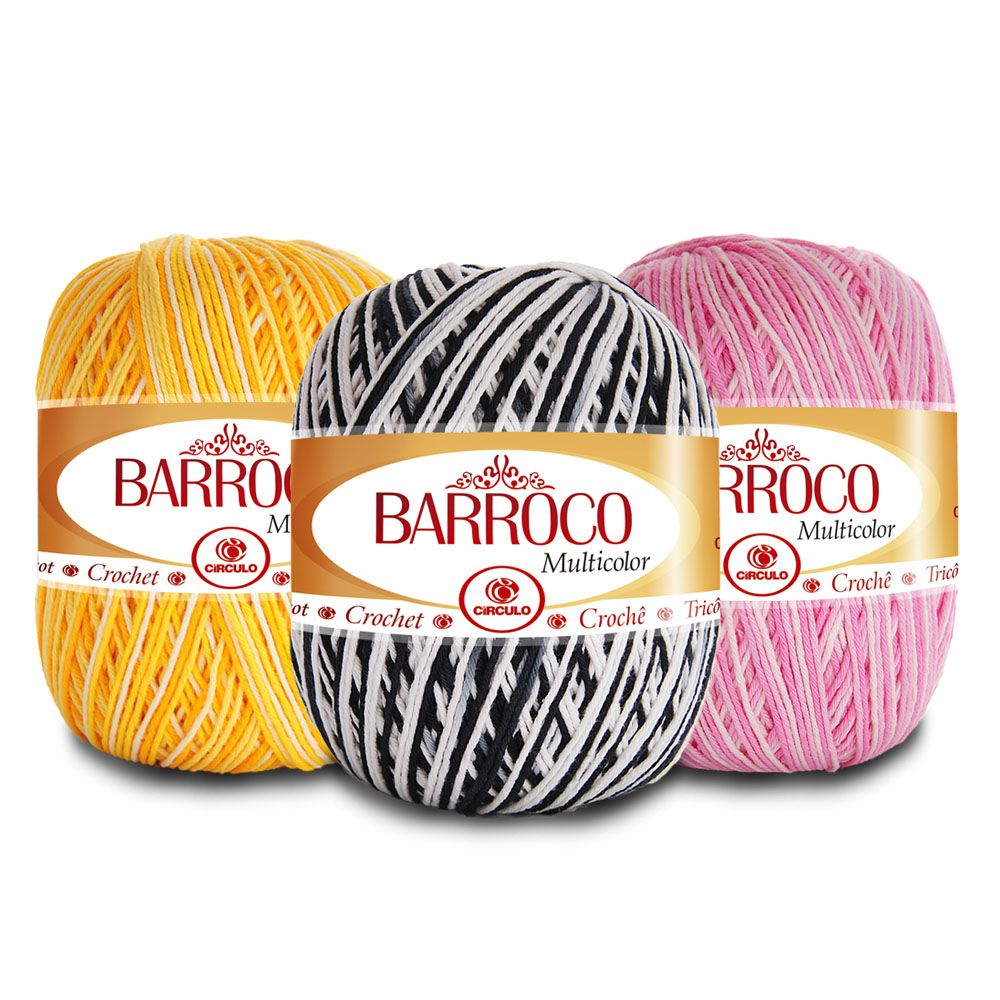 Barbante Barroco Multicolor 400g  - Bastex Artesanatos