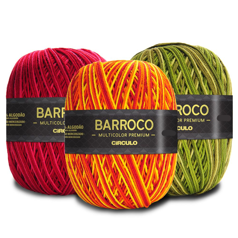 Barbante Barroco Multicolor Premium 200g  - Bastex Artesanatos