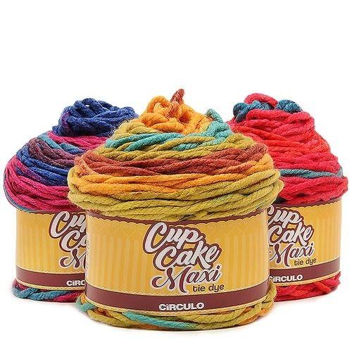 Fio CupCake Maxi Tie Dye Circulo 200g  - Bastex Artesanatos