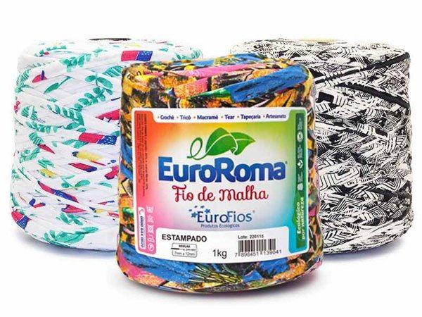 Fio de Malha EuroRoma Estampado 1kg  - Bastex Artesanatos