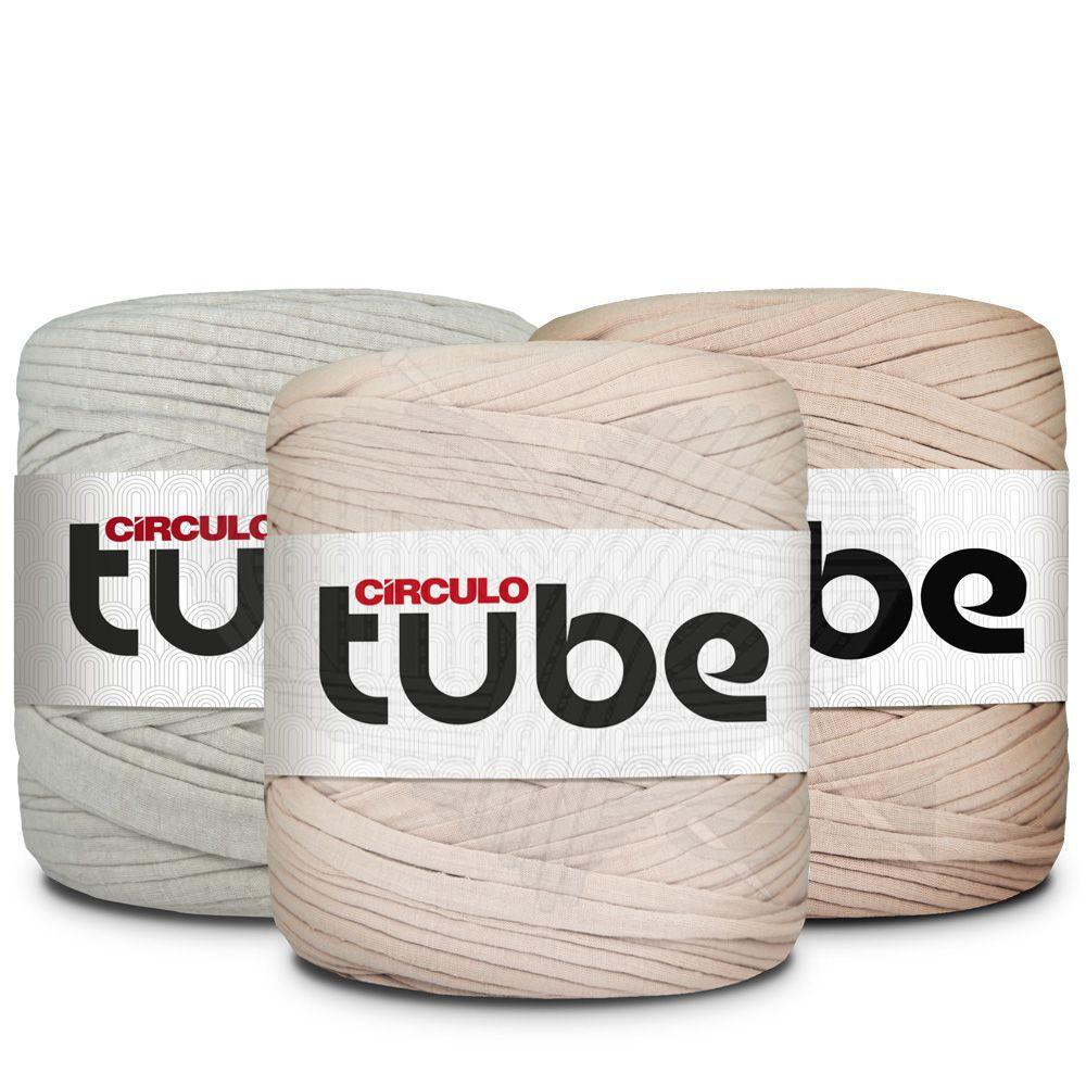 Fio de Malha Tube Círculo Tons de Bege - 120m
