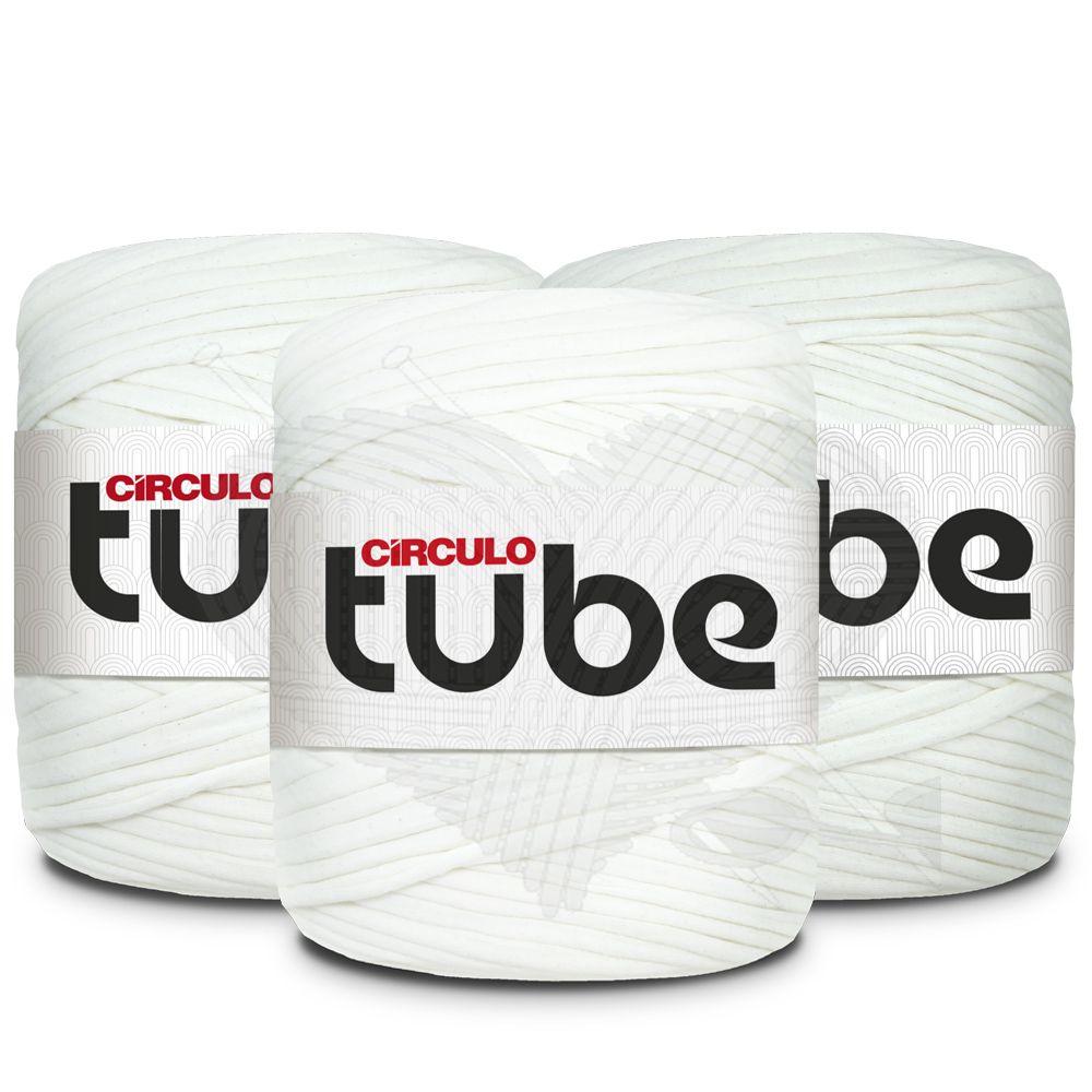 Fio de Malha Tube Círculo Tons de Branco - 120m