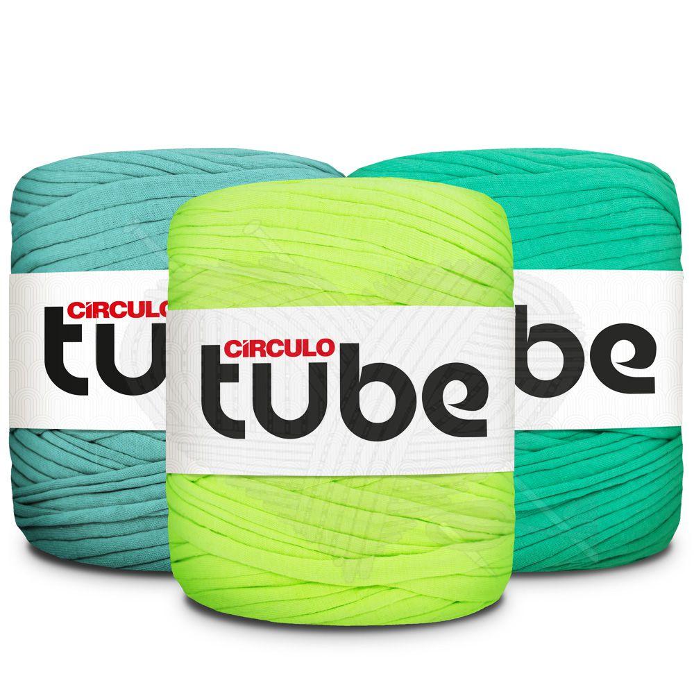 Fio de Malha Tube Círculo Tons de Verde Claro - 120m
