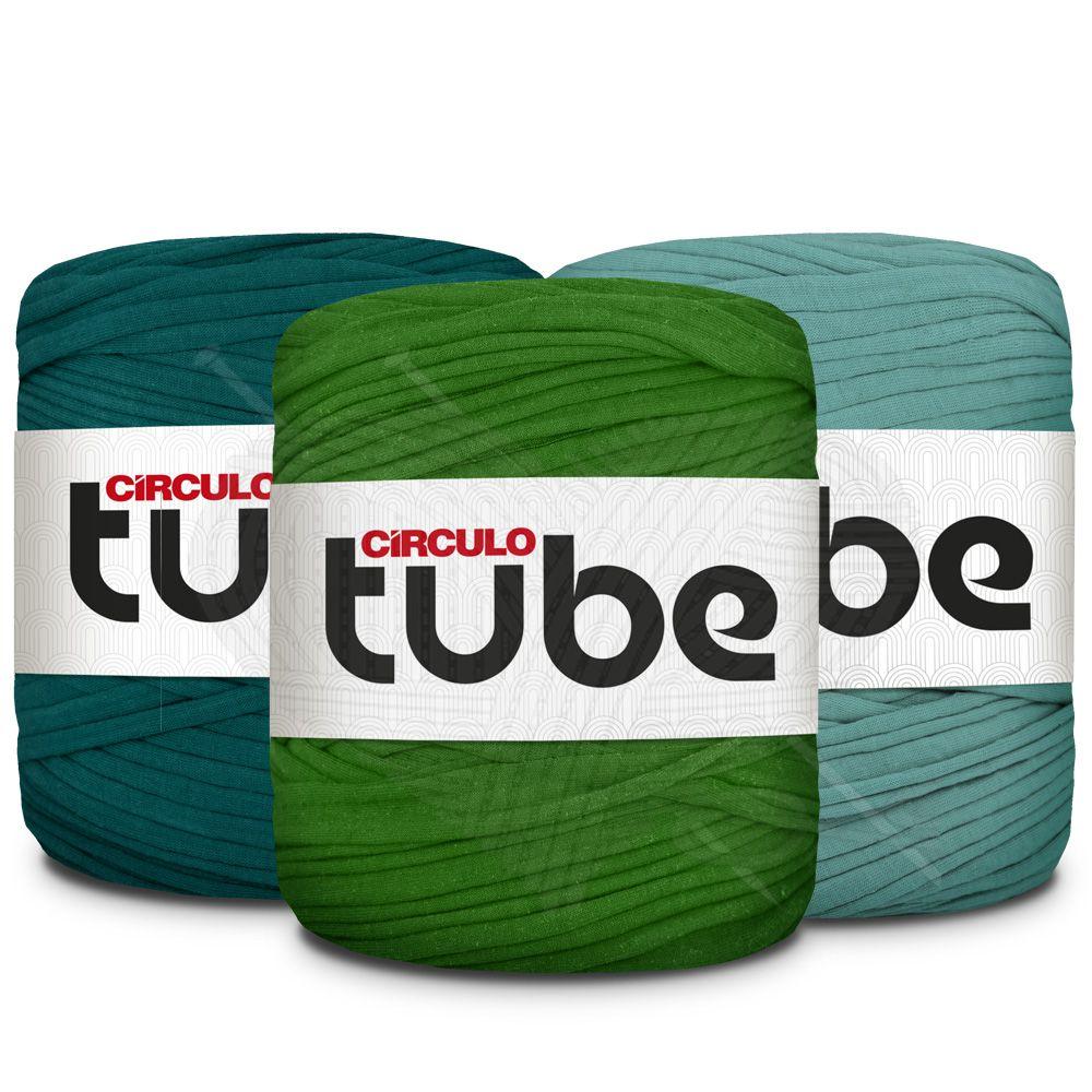 Fio de Malha Tube Círculo Tons de Verde Forte - 120m  - Bastex Artesanatos
