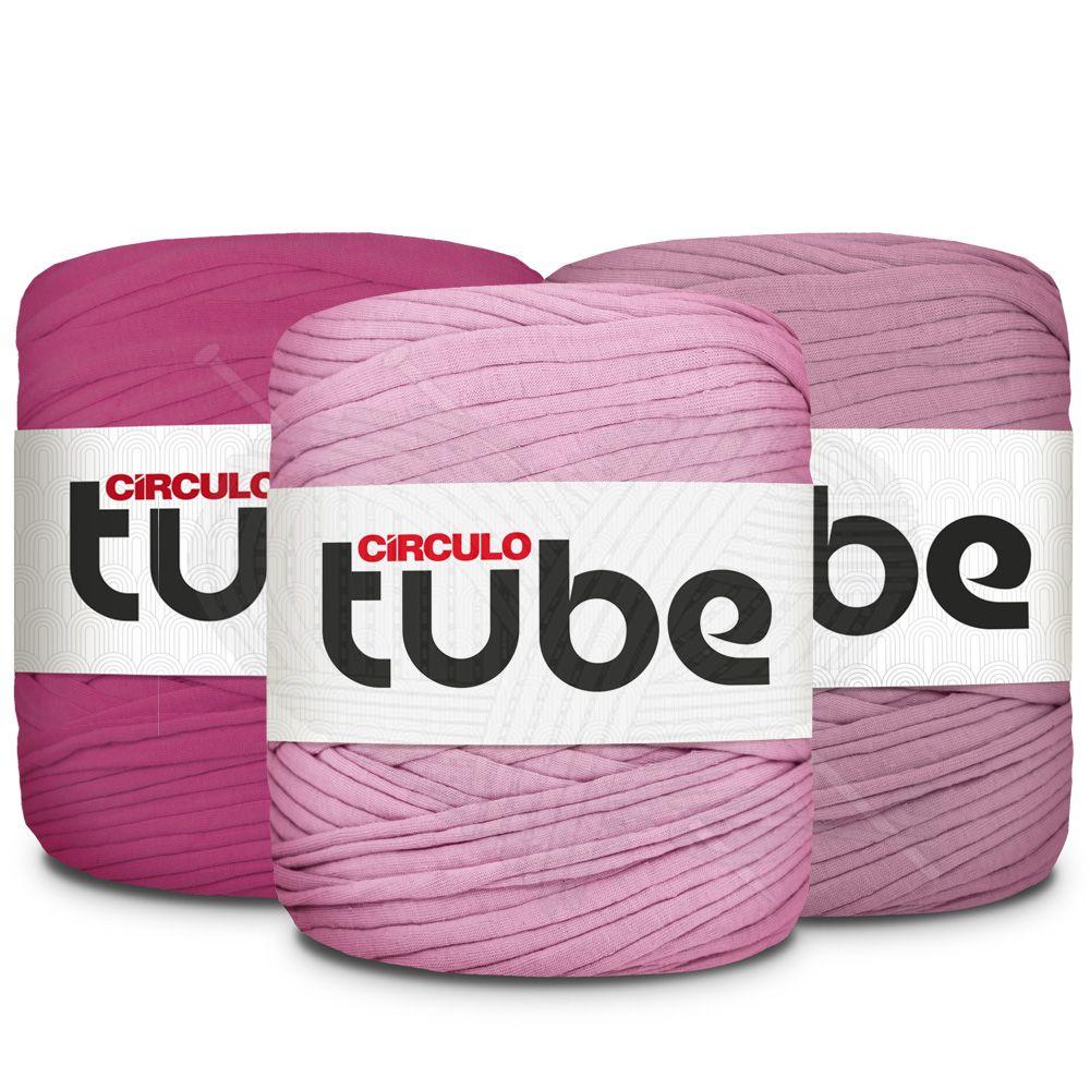 Fio de Malha Tube Círculo Tons de Violeta - 120m  - Bastex Artesanatos