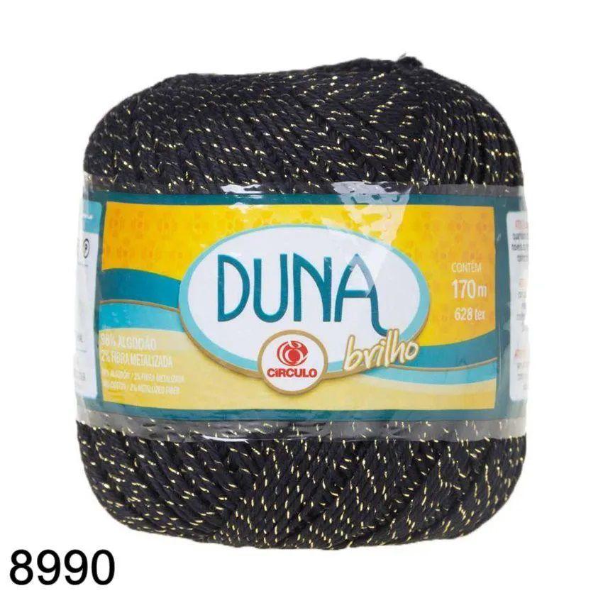 Fio Duna Círculo Brilho Ouro 100g Cor 8990
