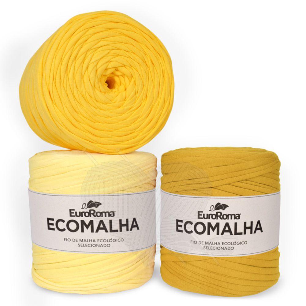 Fio EcoMalha Tons de Amarelo -140m  - Bastex Artesanatos
