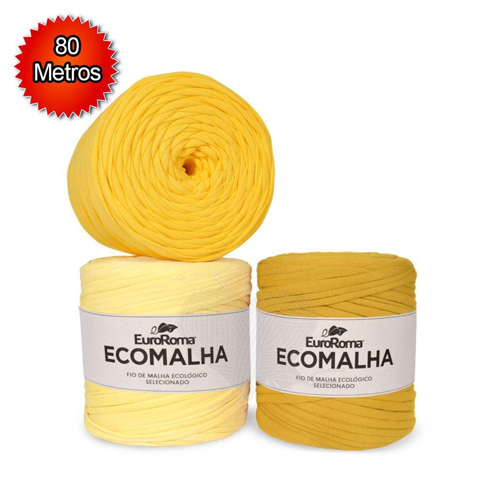 Fio EcoMalha Tons de Amarelo - 80m  - Bastex Artesanatos