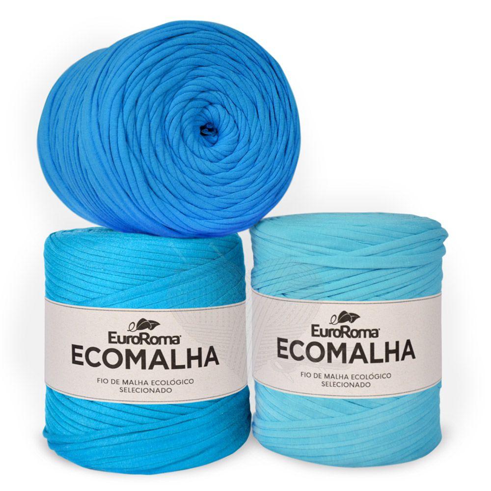 Fio EcoMalha Tons de Azul Claro - 140m