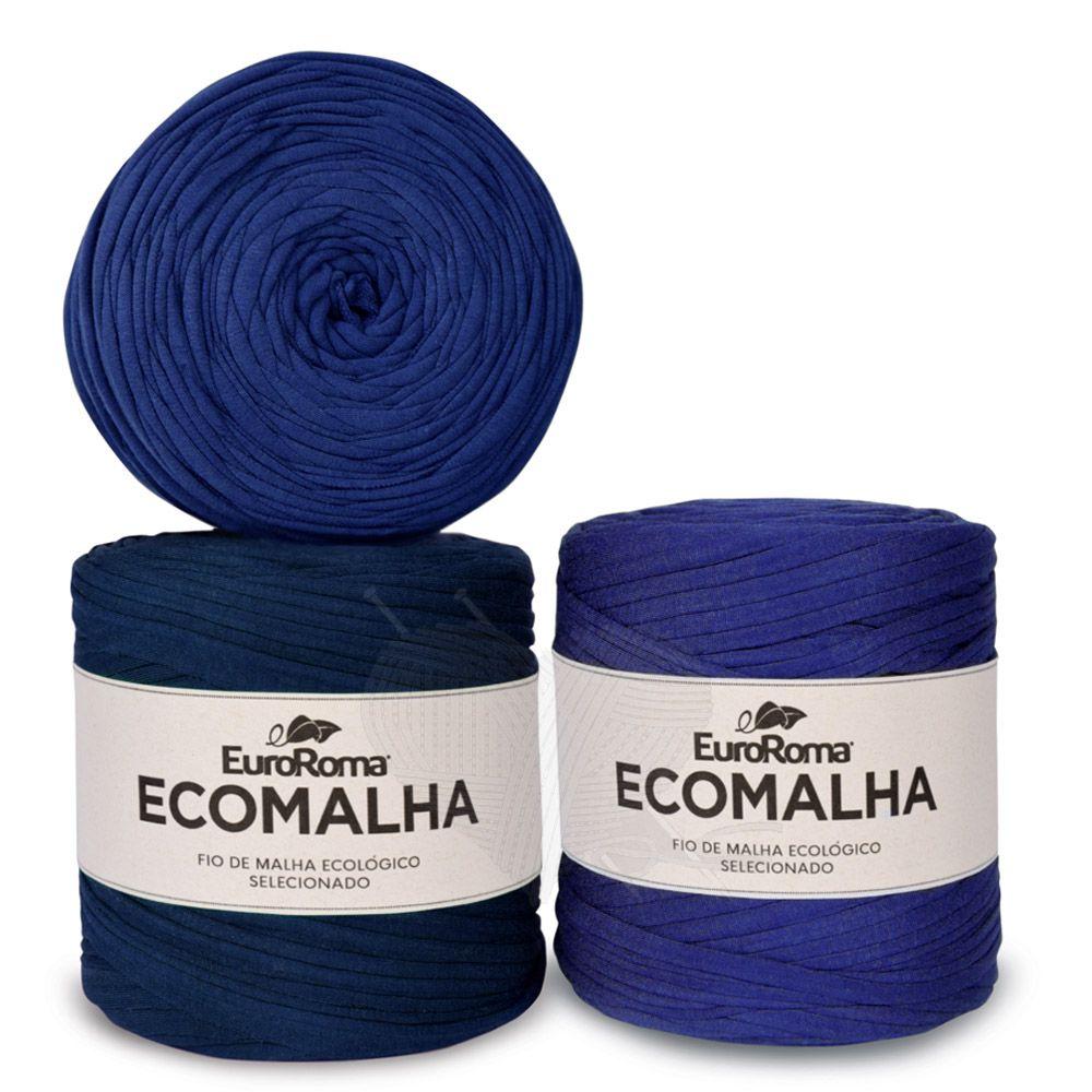 Fio EcoMalha Tons de Azul Forte - 140m  - Bastex Artesanatos