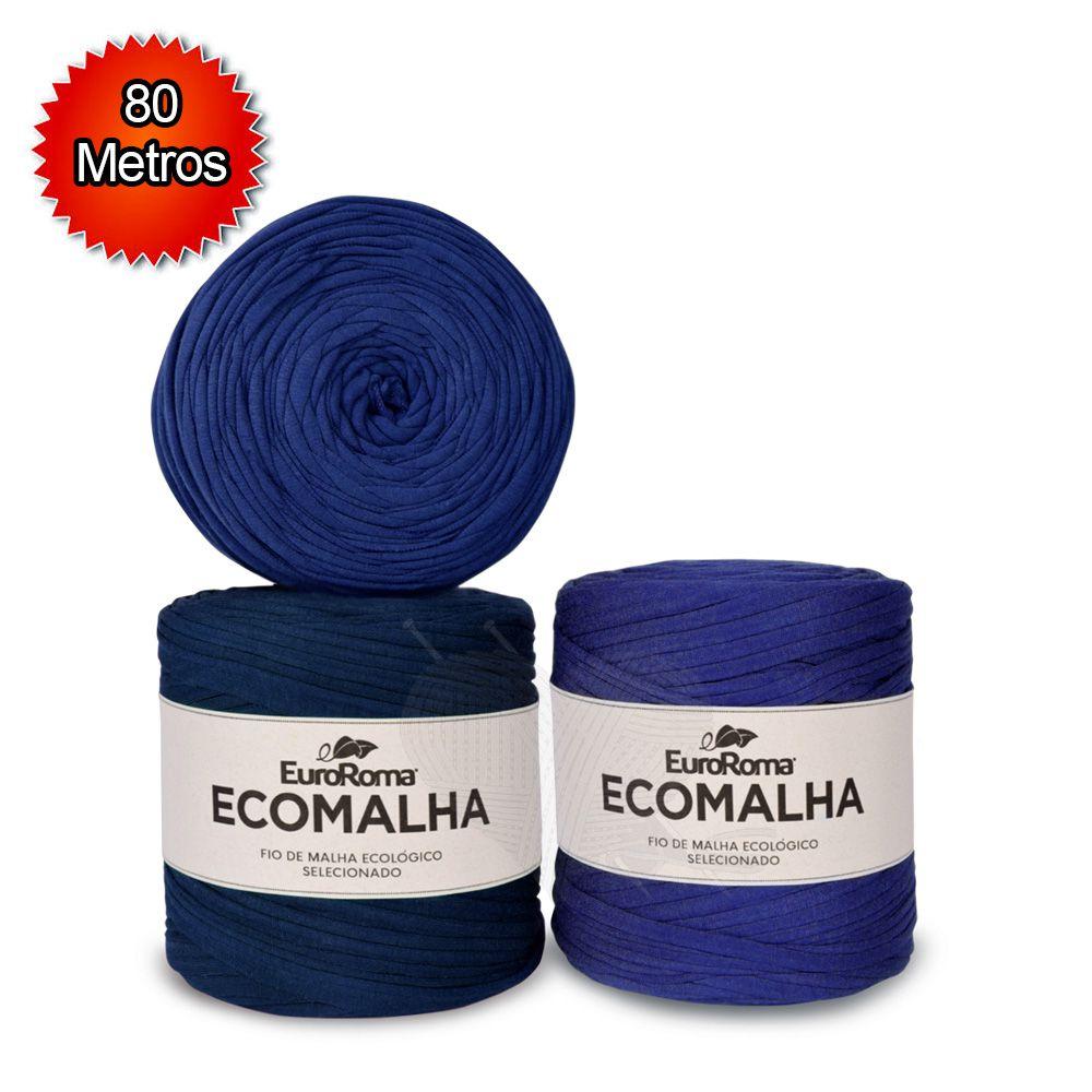 Fio EcoMalha Tons de Azul Forte - 80m