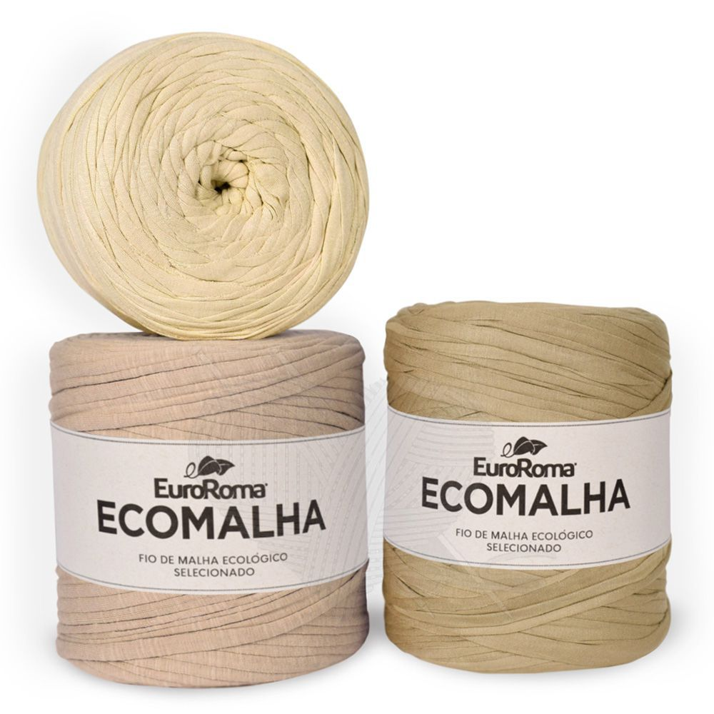 Fio EcoMalha Tons de Bege Tie Dye - 140m