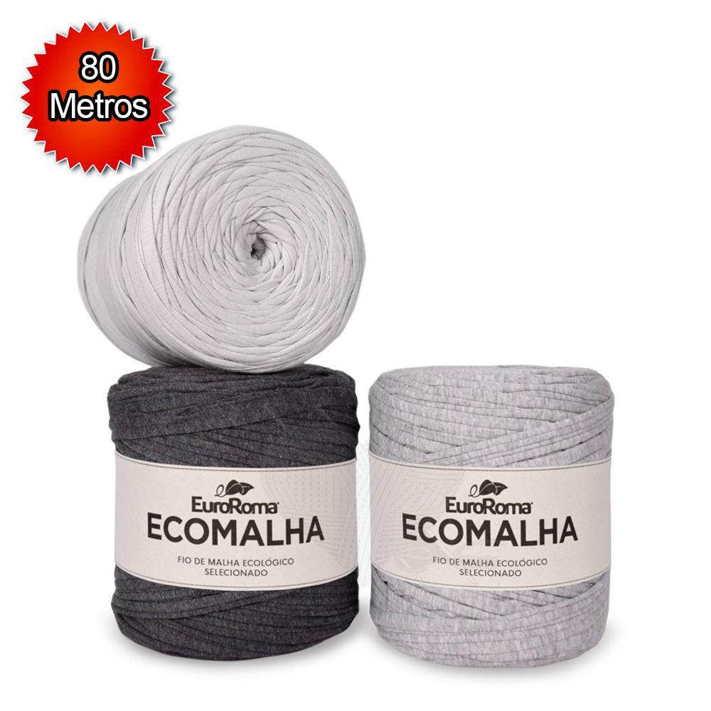 Fio EcoMalha Tons de Cinza - 80m