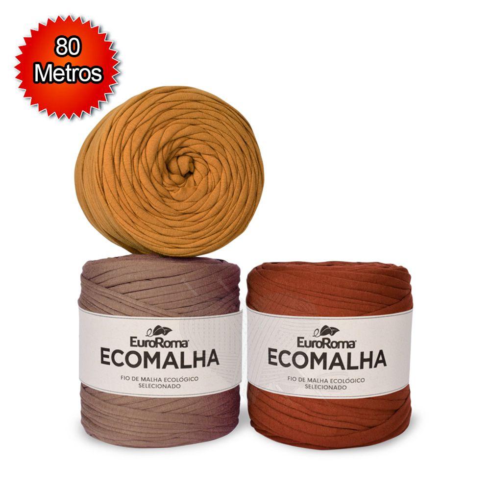 Fio EcoMalha Tons de Marrom - 80m