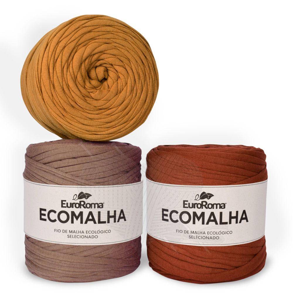 Fio EcoMalha Tons de Marrom Tie Dye - 140m