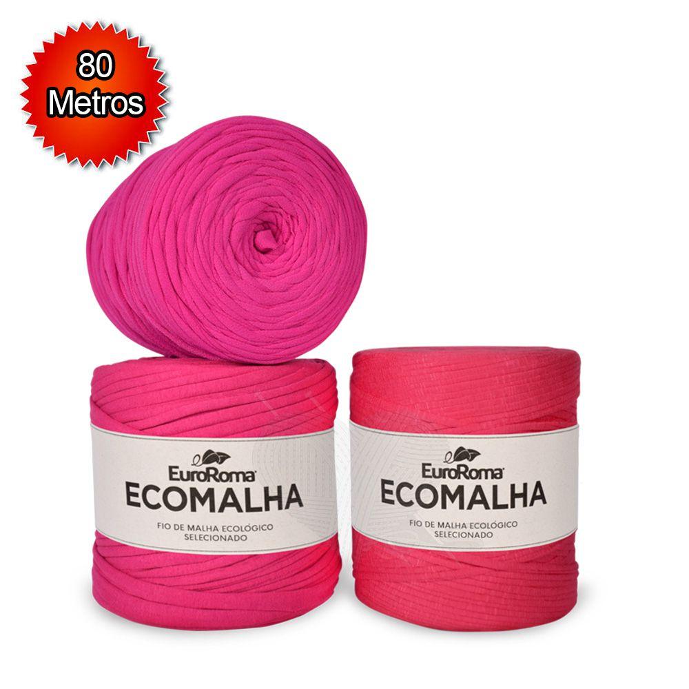 Fio EcoMalha Tons de Pink - 80m