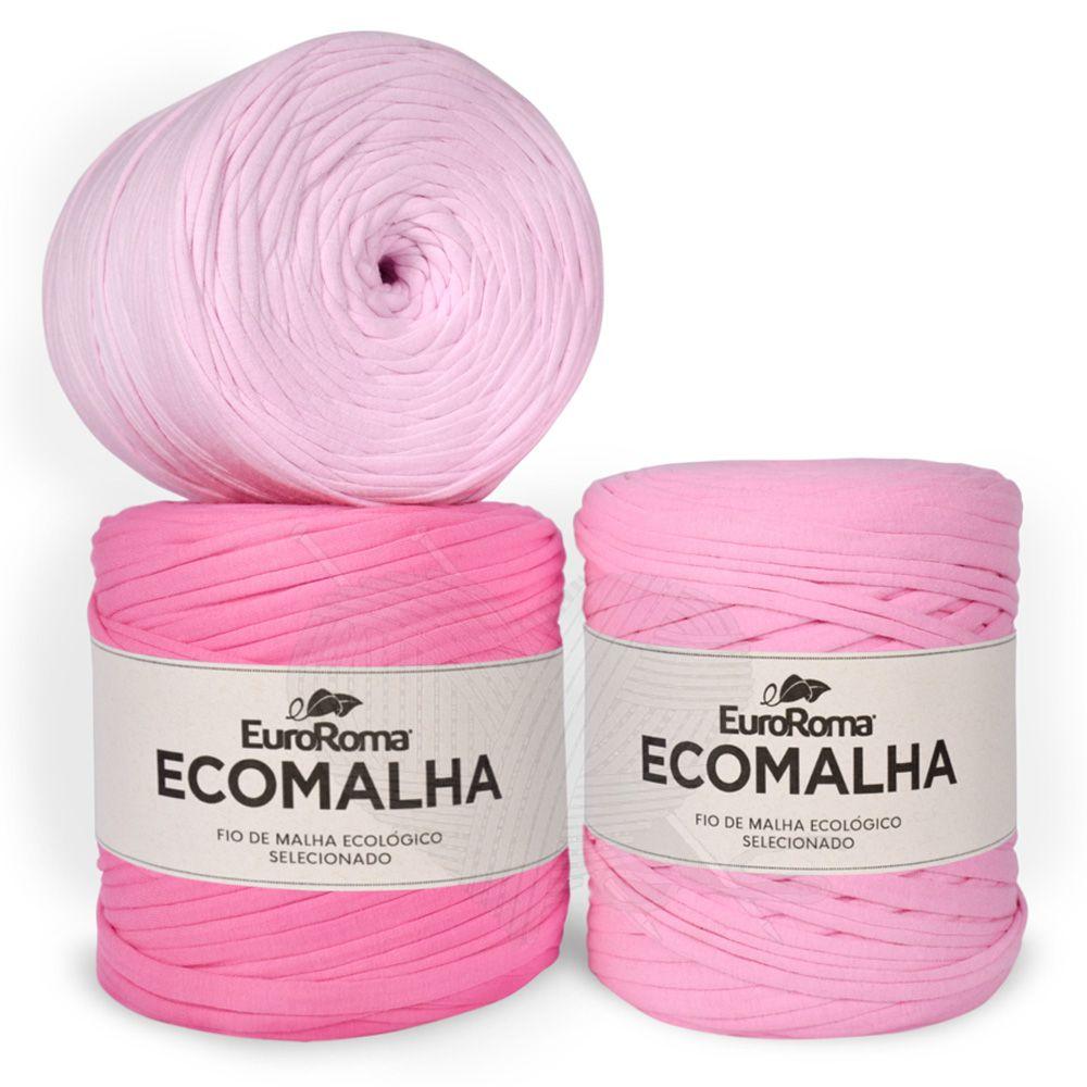 Fio EcoMalha Tons de Rosa Tie Dye - 140m