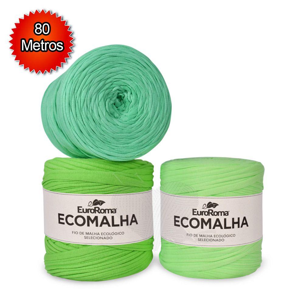 Fio EcoMalha Tons de Verde Claro - 80m  - Bastex Artesanatos