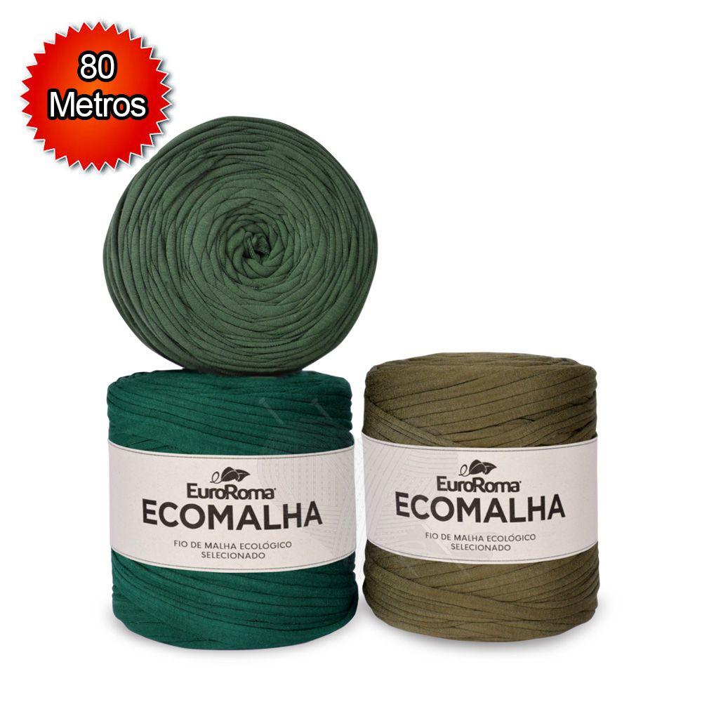 Fio EcoMalha Tons de Verde Forte - 80m  - Bastex Artesanatos
