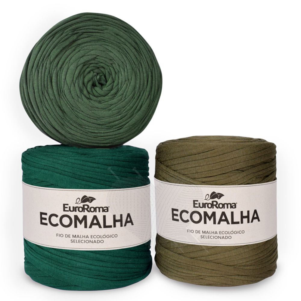 Fio EcoMalha Tons de Verde Forte Tie Dye - 140m