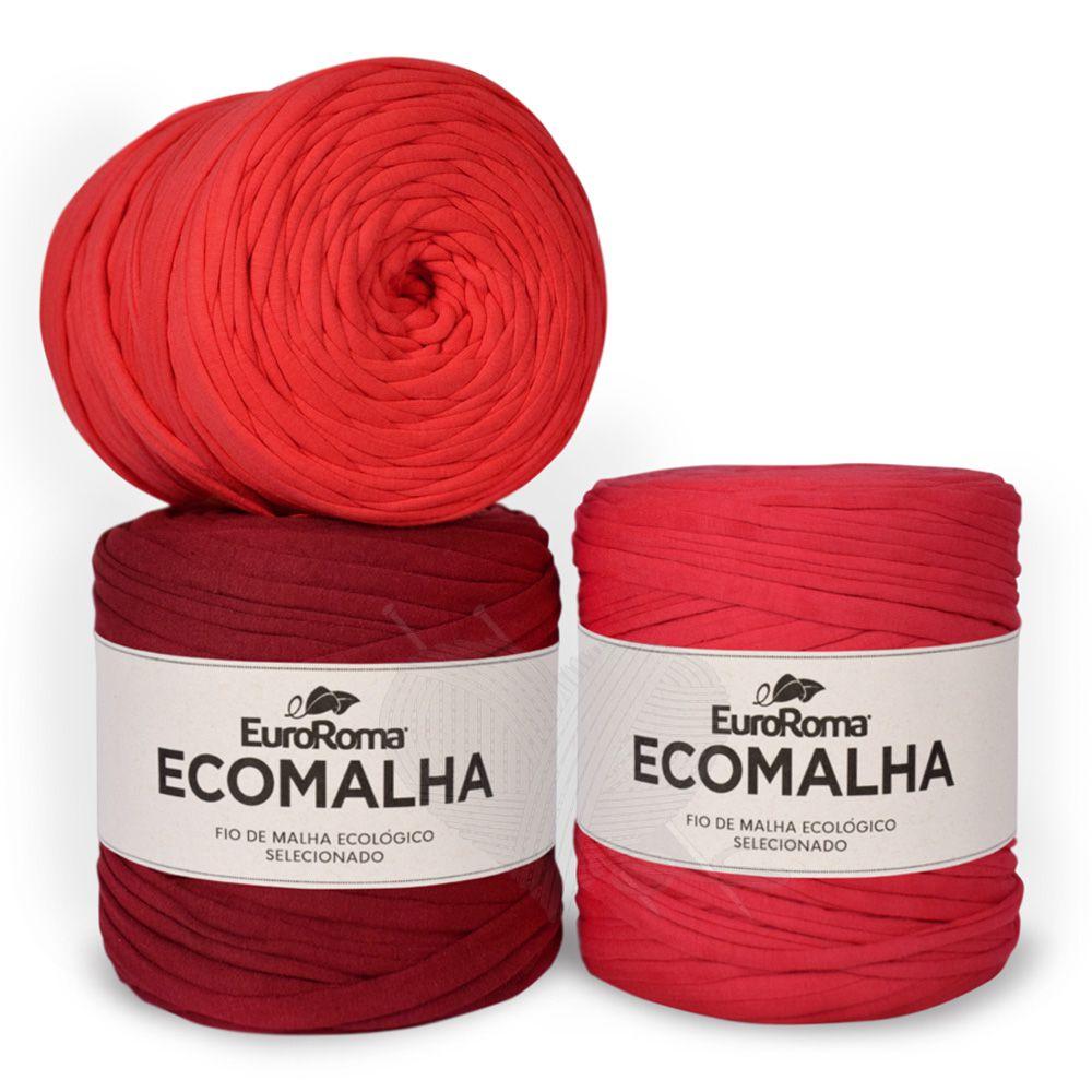 Fio EcoMalha Tons de Vermelho - 140m  - Bastex Artesanatos