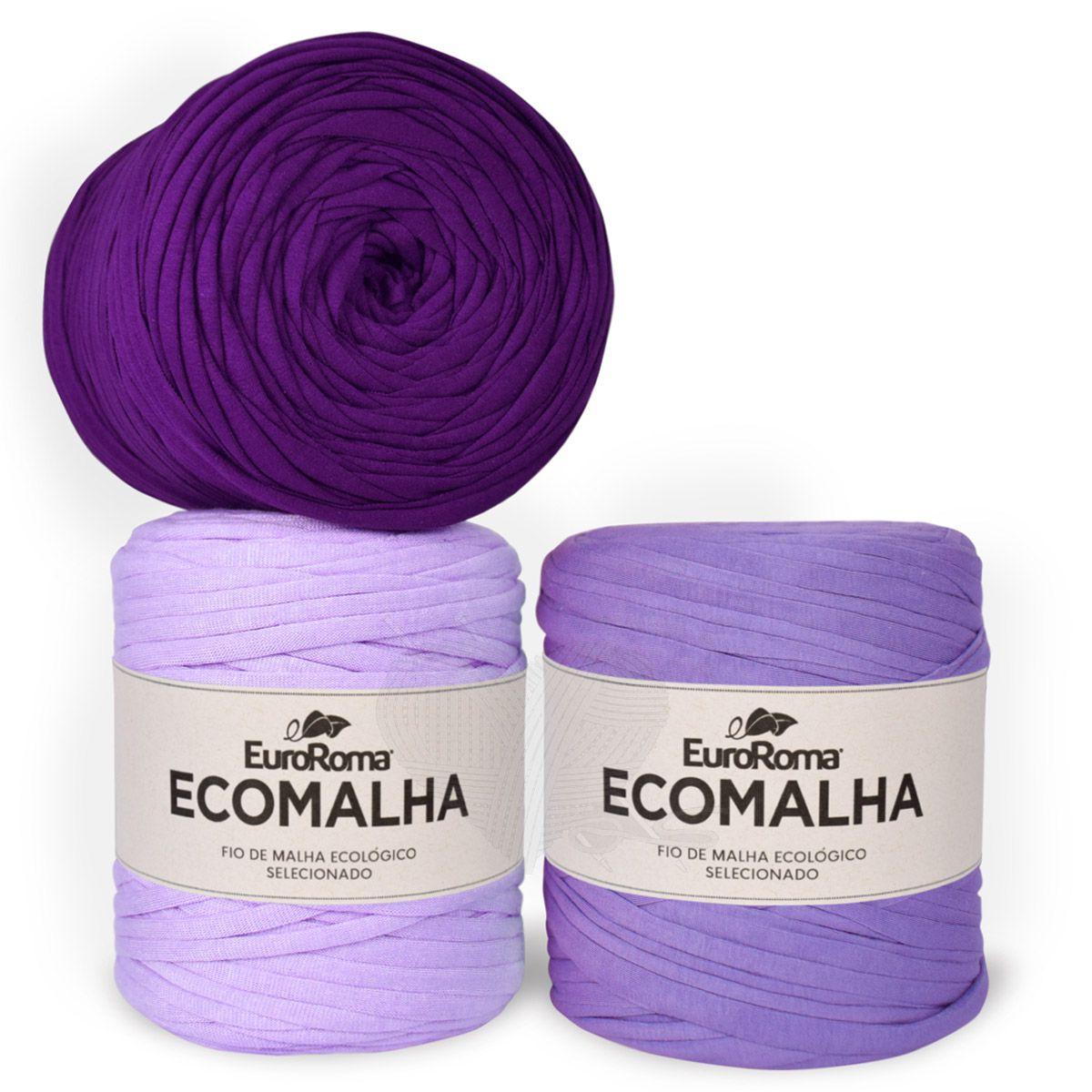 Fio EcoMalha Tons de Violeta Tie Dye - 140m  - Bastex Artesanatos