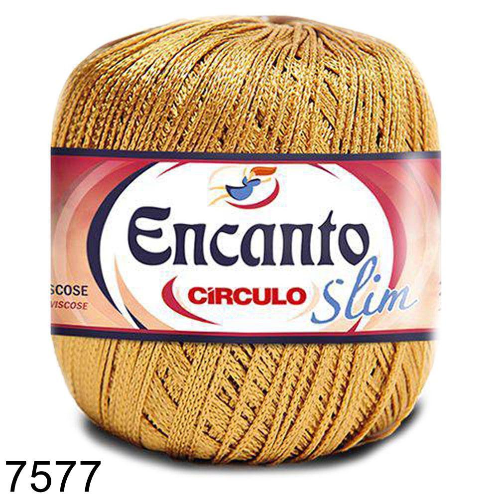 Fio Encanto Slim 240m Círculo - Cor 7577 - Ouro  - Bastex Artesanatos