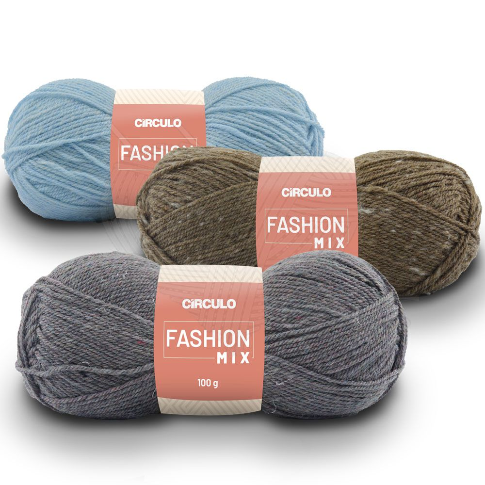 Fio Fashion Mix Círculo 100g  - Bastex Artesanatos