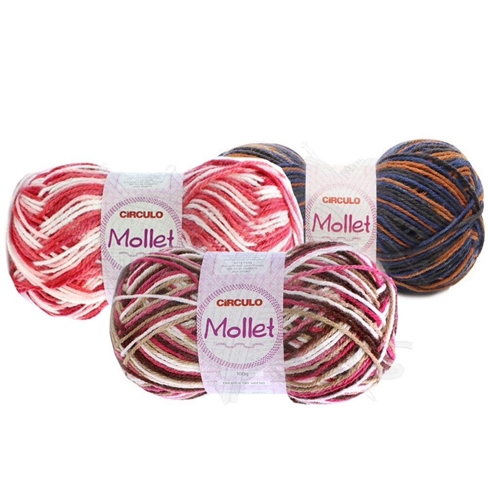 Fio Mollet Círculo Multicolor 100g