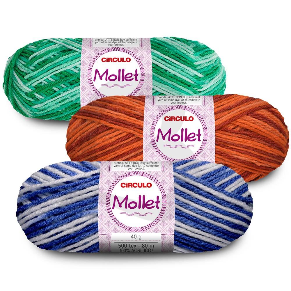 Fio Mollet Multicolor Círculo 40g