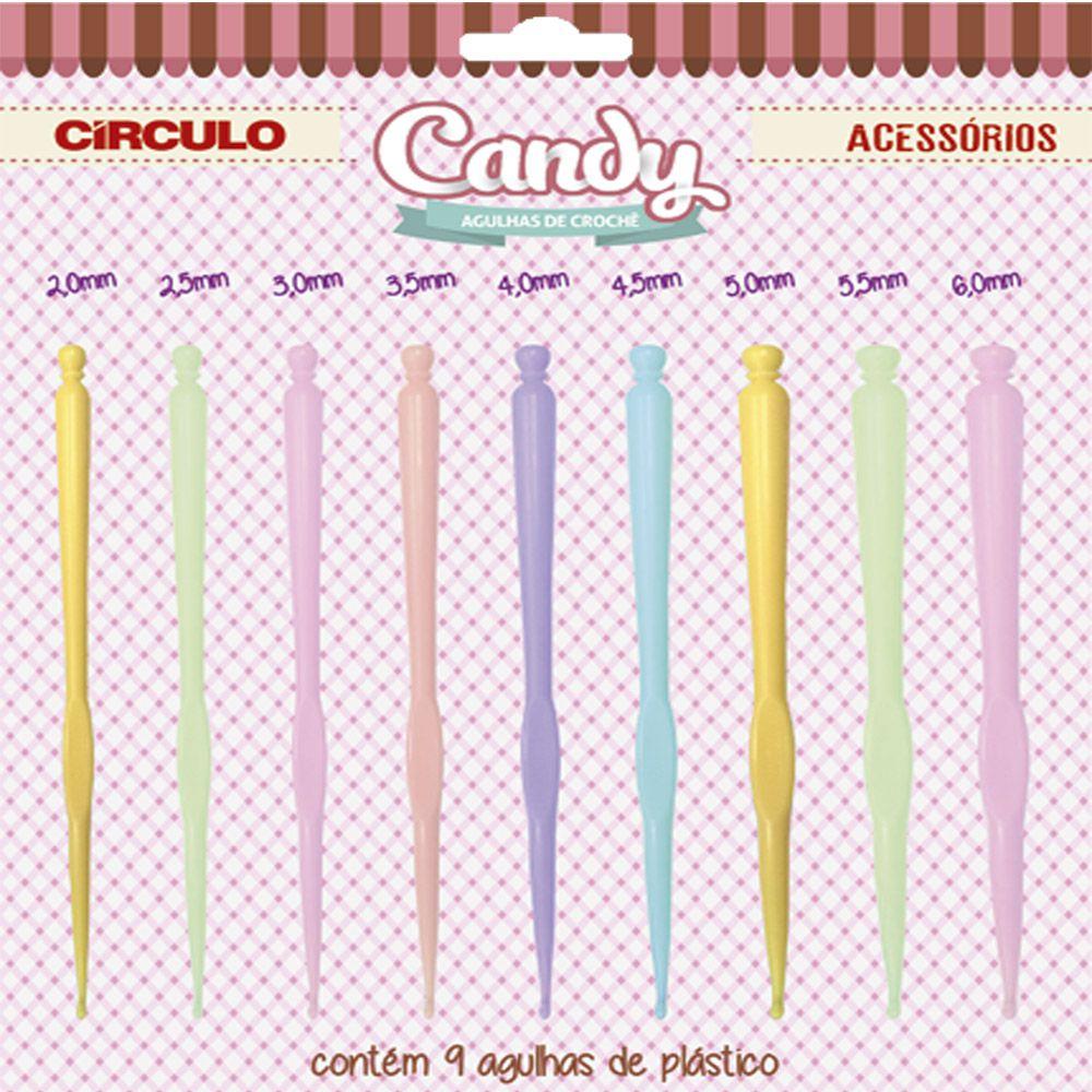 Kit Agulha Candy Crochê  - Círculo  - Bastex Artesanatos